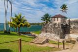 Castillo de San Felipe, Spanish colonial fort at the entrance to Lake Izabal in eastern Guatemala - 173062428