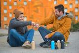 graffiti artists and friends - 173065846