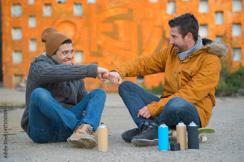 graffiti artists and friends