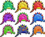 3d Shiny Dinosaurs