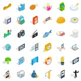 Characteristic icons set, isometric style - 173085696