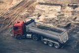 Construction Site Dump Truck - 173088232