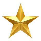 Golden Star  - 3d render - 173113868