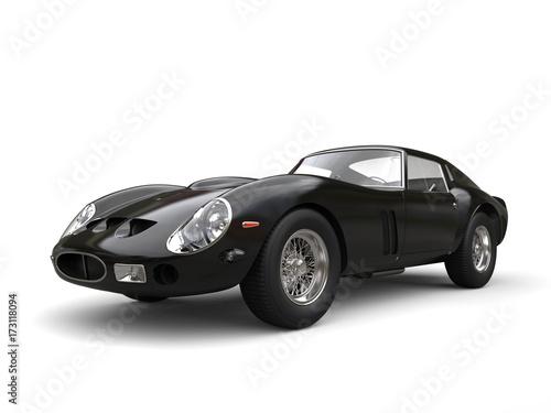 Foto op Canvas Snelle auto s Awesome jet black vintage race car