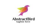 Abstract Bird Logo - Colorful Bird Logo Template