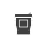 Coffee cup icon vector, filled flat sign, solid pictogram isolated on white. Symbol, logo illustration.