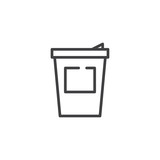 Coffee cup line icon, outline vector sign, linear style pictogram isolated on white. Symbol, logo illustration. Editable stroke