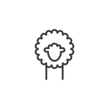 Lamb line icon, outline vector sign, linear style pictogram isolated on white. Symbol, logo illustration. Editable stroke - 173151651