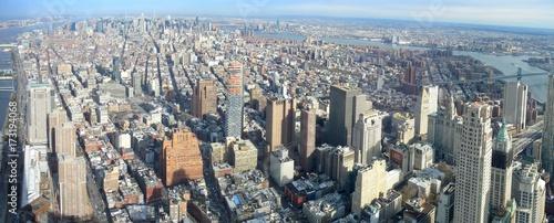 Fototapeta Aerial image of Manhattan, New York