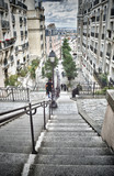 Staircase of Montmartre.
