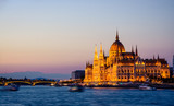 Parliament building in Budapest night view - 173225698