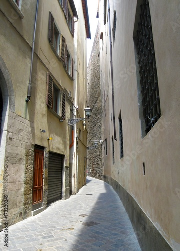 Spoed canvasdoek 2cm dik Smal steegje Art and architecture of Florence, Italy.
