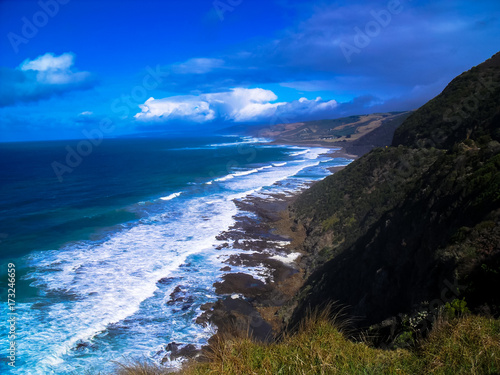Foto op Aluminium Donkerblauw Stunning view of the beautiful Great Ocean Road, Victoria, Australia