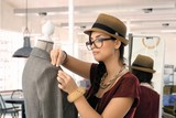 Small business - fashion designer woman working