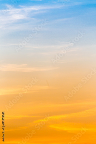clouds in the sky at sunset as background