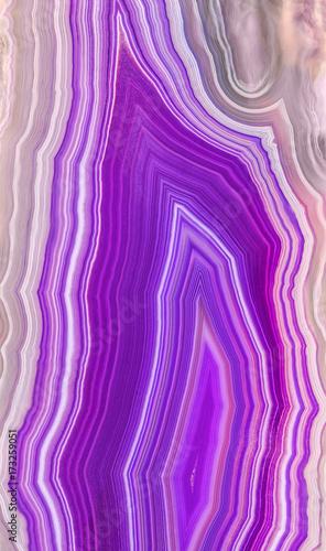 Niesamowity przekrój geody Violet Agate Crystal. Naturalny półprzezroczysty agata kryształu powierzchni cięcie, Purpurowy leczniczy abstrakcjonistyczny struktura plasterka kopalnego kamienia makro- zbliżenie