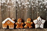Christmas homemade gingerbread cookies - 173264612