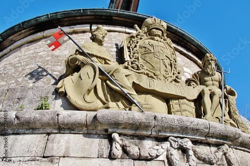 Wappen, Alter Kranen, Würzburg Poster