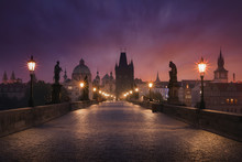 Sunrise over Prague