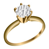 Isolated golden ring