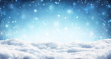 Snowy Christmas Background - Snowfall In Winter - 173316010