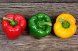 Colorful pepper on wooden table - 173322201