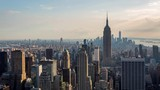 New York and Empire State Building Golden Hour Light Day Timelapse - 173347007