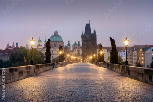 Poster Praag Charles V bridge, Prague