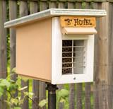Side View of Handmade Mason Bee House - 173357404