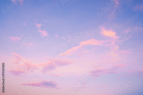 Nature Background Of Beautiful Sky Landscape At Sunset Serenity