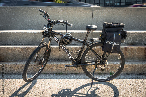 Staande foto Fiets Chicago Police bicycle