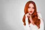 Gorgeous redhead girl - 173399433