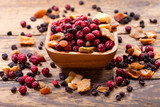 bowl of mixed of dried fruits