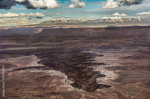 Foto op Canvas Cappuccino Canyonlands National Park Island in the Sky Trail Hike Landscape