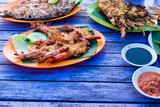 Traditional balinese sea food in Bali, Indonesia