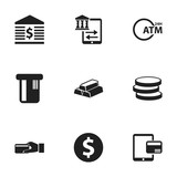 Set Of 9 Editable Finance Icons. Includes Symbols Such As Purchase, Payment, Unitersity And More. Can Be Used For Web, Mobile, UI And Infographic Design. - 173409854