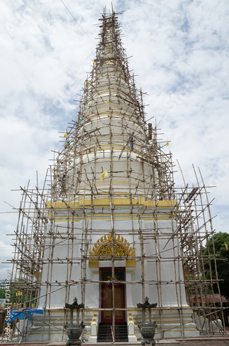 Pagoda under renovation Canvas