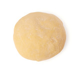 Ball of raw dough isolated on white background with clipping path. Top view. - 173420687