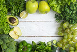 healthy green vegetables and fruits - 173425023