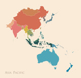 Map of Asia Pacific - 173432626