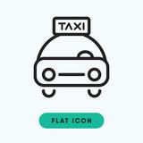 Taxi vector icon - 173437687