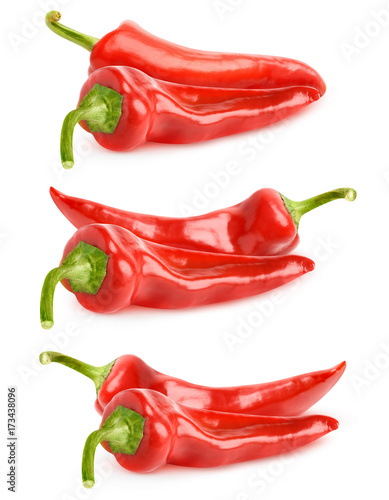 Poster Isolated peppers collection