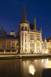 Old Post Office In Ghent At Night, Belgium