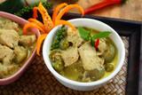 Chicken green curry  Thai food. - 173464049