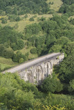 Colorful landscape image of Headstone Viaduct and Monsal Head in Peak District in Summer - 173498494
