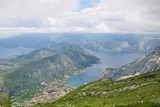 Panoramic view of Kotor and bay of Kotor, Adriatic coastline, Montenegro