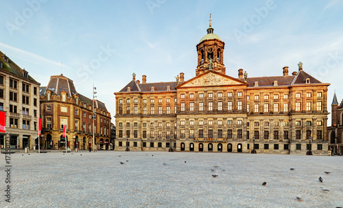 Royal Palace in Amsterdam, Netherlands