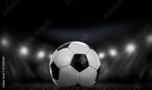 Foto op Aluminium Gras Fußball
