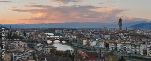 Papiers peints Florence Sunset over Florence