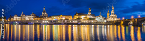 Spoed canvasdoek 2cm dik London Panoramic image of Dresden, Germany
